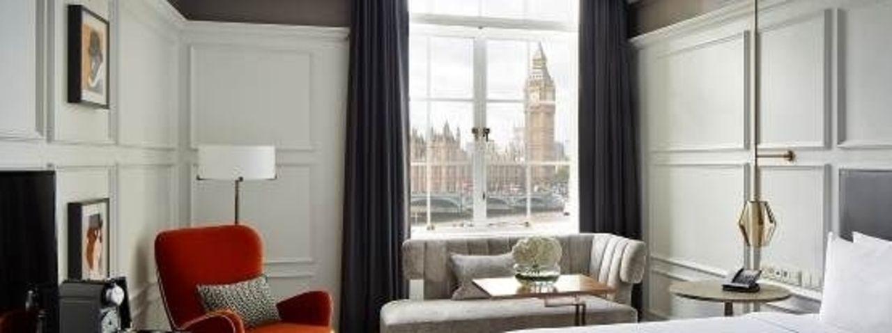 Zimmer mit Blick auf Big Ben: So präsentiert das London Marriott Hotel County Hall erste Ergebnisse seiner Renovierung