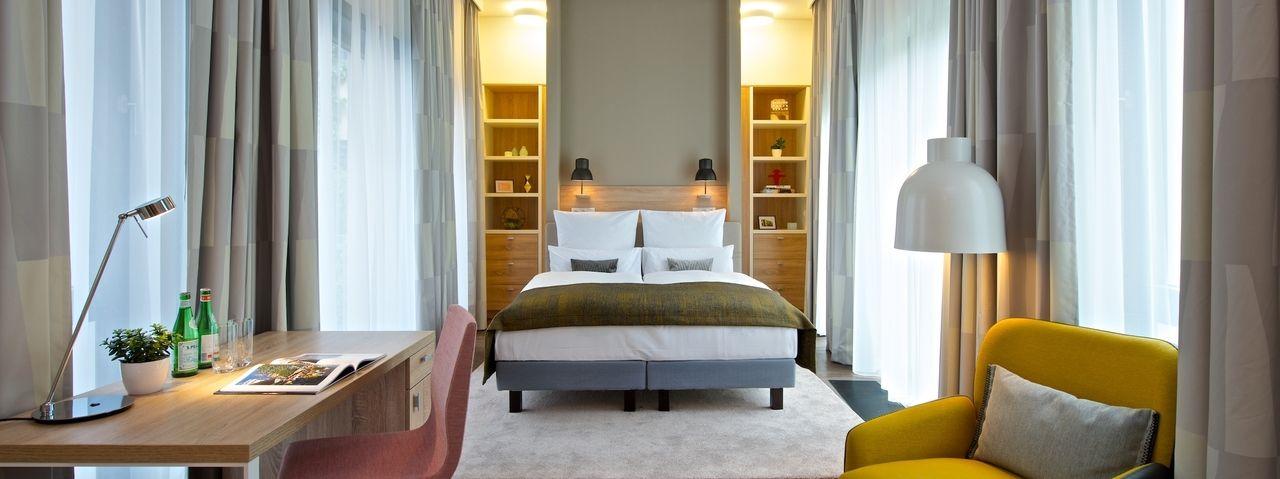 Blick in eines der Apartments: So präsentiert sich das Frederics Style in Berlin