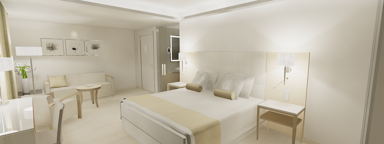 Hell und luftig: Die neuen Zimmer im Maritim Antonine Hotel & Spa Malta