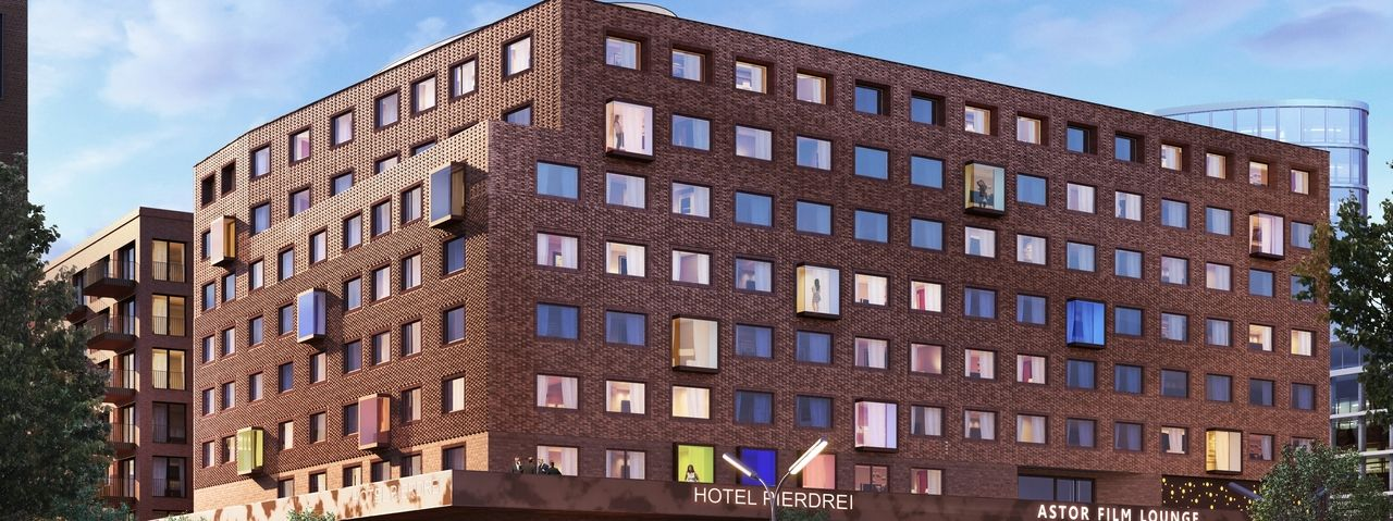 So soll's aussehen: Die Visualisierung des geplanten Hotels Pier3