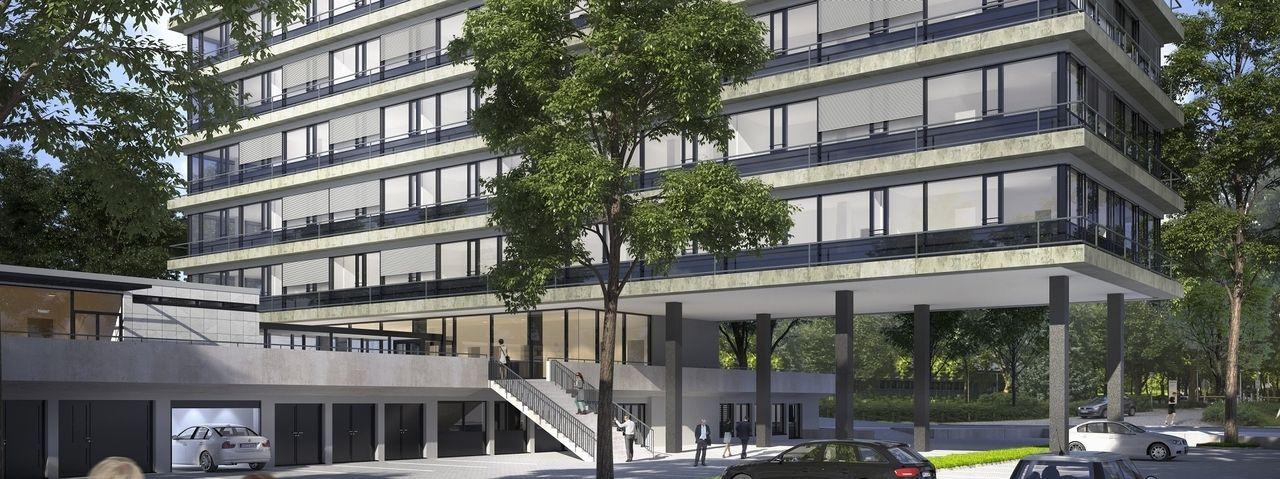So soll's aussehen: Das Serviced Apartmenthaus  am Kapstadtring in der Hamburger City Nord