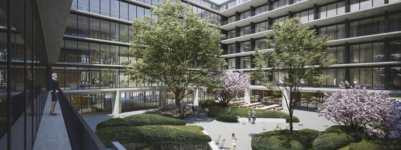 Grüne Oase: Der Innenhof soll das Herstück des neuen Quartiers sein. Gestalten wird ihn der bekannte Landschaftsarchitekt Enzo Enea