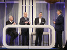 Diskutierten zusammen: (von links) Dieter Müller, Thomas Althoff, Tobias Ragge und Rolf Westermann