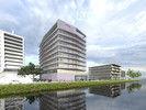 Neubau: So soll das Gebäude des Moxy Hotes und des Residence Inn by Marriott in Amsterdam aussehen