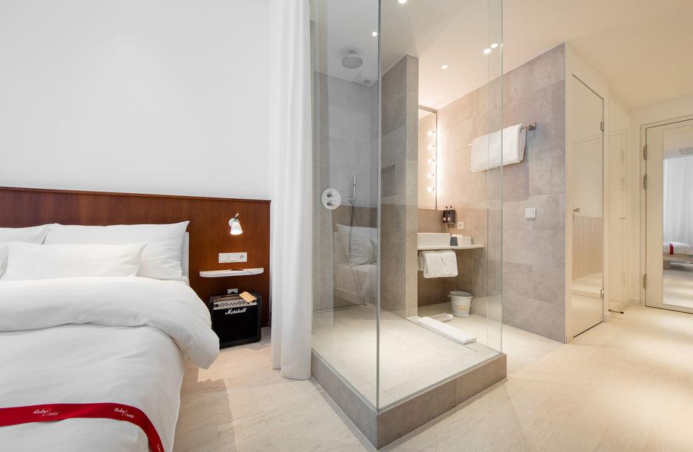 dusche im zimmer hotel flchennutzung die zimmer im neuen ruby - Hotel Amsterdam Dusche Im Zimmer