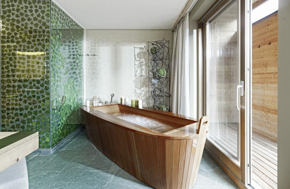 Fotostrecke fr her nasszelle heute spa tempel ahgz for Designhotel ultental