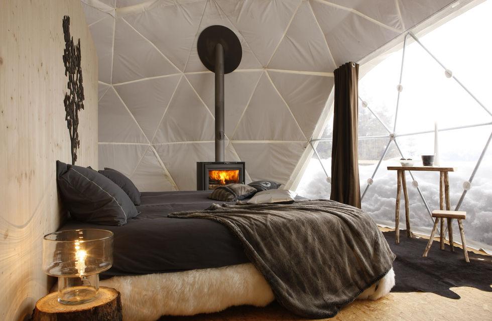 fotostrecke au en zelt innen suite ahgz hoteldesign. Black Bedroom Furniture Sets. Home Design Ideas