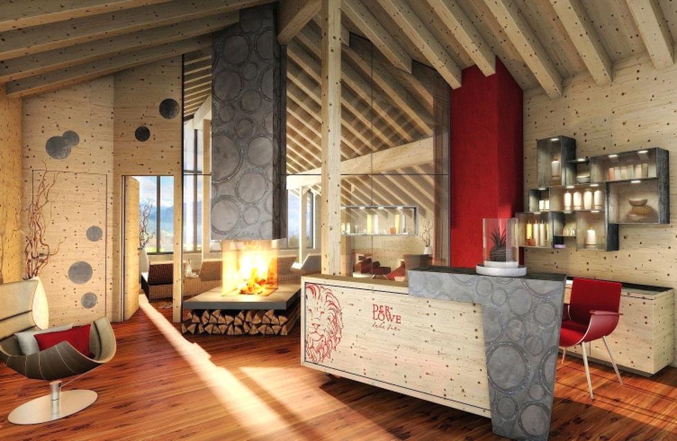 Fotostrecke hotel der l we l dt g ste ins leonarium ein for Design hotel leogang