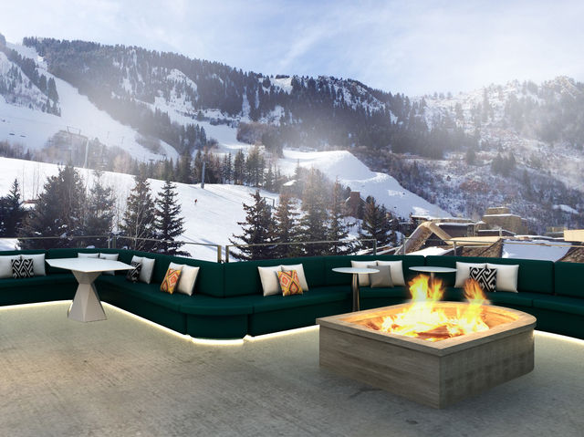 Einladend: Die 12.000 Quadratmeter große Dachterrasse des W Aspen
