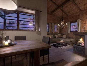 Gemütlich: Innen kommt viel Holz zum Einsatz