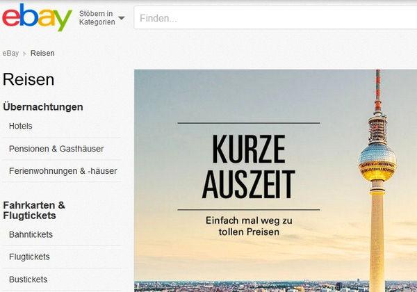 ebay startet reiseportal in deutschland allgemeine hotel und gastronomie zeitung ahgz 05. Black Bedroom Furniture Sets. Home Design Ideas