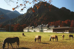 Soll ein Hotel werden: Die Tagungsstätte in Wildbad Kreuth