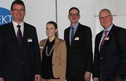 Sie vermittelten Fachwissen: (von links) Olaf Schlieper, DZT; Martina Baumgärtner, Alegria; Frank Martin, Cofely Deutschland; Stefan Dinnendahl, IHA