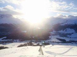 Stimmungsvoll: Winterlandschaft im schweizerischen Engadin