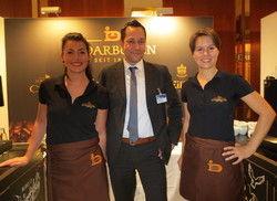Bieten Kaffeegenuss von Darboven: Leandra Schlösser, Jörg Tesch, Heike Bratzke