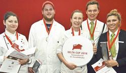 Das Siegerteam: (von links) Maja Pohland, Maikel Rasmussen, Nadine Köpfle, Julian Hammerstein und Katharina Hohlweg.