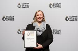 Geehrt: Birgit Schallock, Innenarchitektin bei Joi-Design, nahm die Urkunde des German Design Award 2016 entgegen