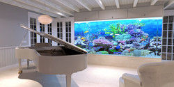 Hingucker: In der Villa gibt es ein riesiges Aquarium