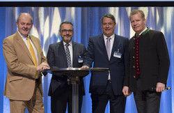 Eröffnen das Gastronomie-Forum: (von links) Ulrich Kromer von Baerle, Georg Schwende, Rolf Westermann und Andreas Steinfatt