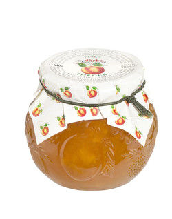 Ergänzt das Sortiment: Pfirsich-Marmelade