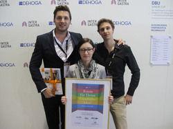 Stolze Sieger: (von links) Sebastian Hof, Jennifer Moseler und David Poetzsch-Heffter