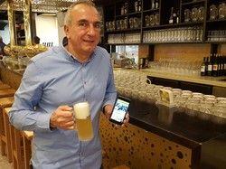 Kundenbindung per App: Nunzio Chiumenti. Geschäftsführer von drei Braugasthäusern, will den Kundenclub digitalisieren