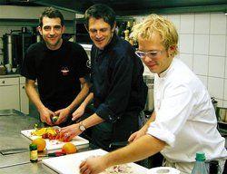 Begeisterung für den Kochberuf:<em> (von links) Martin Baudrexel und seine Kollegen Fred Nowack und Mario Kotaska<tbs Name=