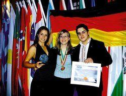 Die Preisträger <em>(von links nach rechts)</em>: <em>Nadja Baron, Sandra Baltes und Silio del Fabro<tbs Name=