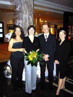 Siegerin: <em>Jennifer Kittel (Zweite von links) mit den anderen Finalisten<tbs Name=