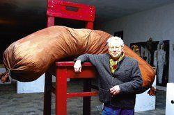 Nie um Einfälle verlegen: <em>Nach der größten Wurst des Landes wird Sylvester Antony jetzt Solarkühe bauen <tbs Name=