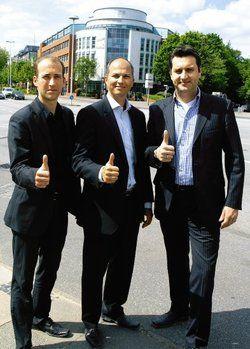 Drei starke Macher, ein ambitioniertes Projekt: <em>(von links) Regionalverkaufsrepräsentant Michael Kett, Thomas Knudsen, Geschäftsführer Nordic-Hotels GmbH, und Hoteldirektor Bernhard Viets <tbs Name=