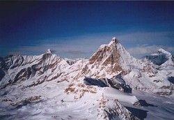 Blick auf den Berg: das Matterhorn