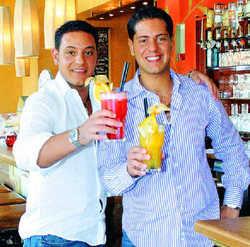 Sympathische Gastgeber: Die Brüder Sergio (links) und Andreas Ferrante in der Casa Columbiana