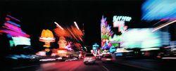 Hauptverkehrsachse des Vergnügens: Der Strip von Las Vegas.