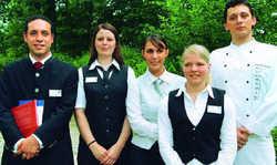 Jugendmeister 2008: (von links) Steffen Scherer, Katrin Weber, Diana Archer, Tanja Knoll und Florian Schäfauer