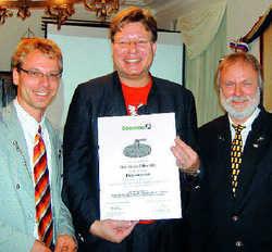 Bierspezialisten: (von links) Axel Kiesbye, Georg VI. Schneider und Wolfgang Stempfl