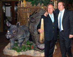 Ein Stück Familienglück: Geschäftsführer Töns Haltermann (rechts) mit Vater Jürgen