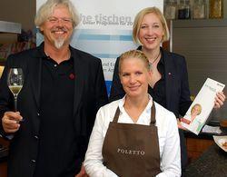 Werben für die Aktion: (von links) Ralf Bos, Cornelia Poletto und Yvonne Bounin