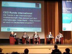 Jetzt als Video verfügbar: Die Diskussion der internationalen CEO-Runde auf dem Deutschen Hotelkongress