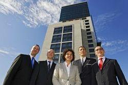 Waldorf-Astoria-Team komplett: (von links) Alexander Oehme, Christian Bünnagel, Daniela Welter, Friedrich W. Niemann und Werner Pichler