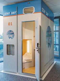 Platzsparend: Die Schlafboxen von Stay2Day