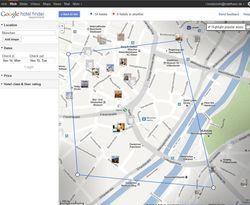 Zusätzlicher Buchungskanal: Der Google Hotelfinder könnte User bald zur Micros-Fidelio-Buchungsmaschine weiterleiten Sreenshot: AHGZ
