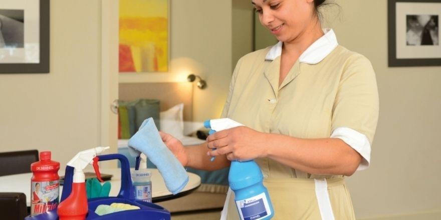 Ob intern oder extern: Bei der Zimmerreinigung muss die Hygiene stimmen
