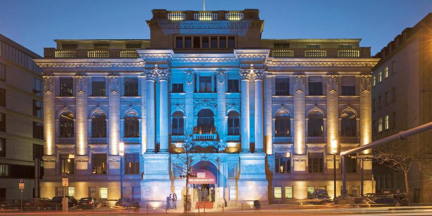 Imposant: Die Kameha Suite befindet sich in einem denkmalgeschützten Gebäude, das früher der Allianz als Vorstandssitz gedient hat.