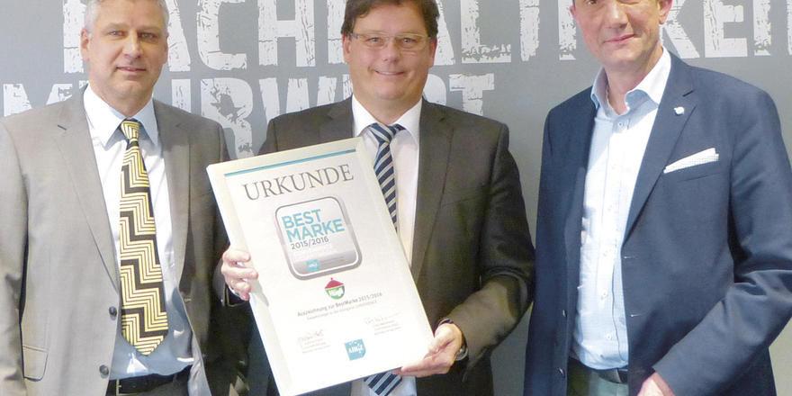 Foodservice-Führungstrio von Hügli: (von links) Stefan Schmitt (Marketingleitung), Joachim Hodapp (Geschäftsbereichsleiter) und Markus Müller (Brand Manager).