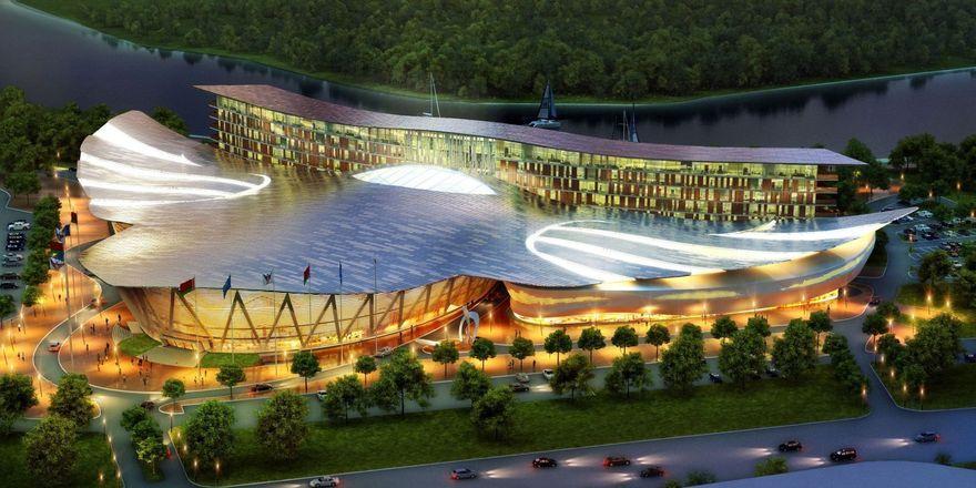 Beeindruckend: Das Außendesign des Hotels erinnert an einen Falken