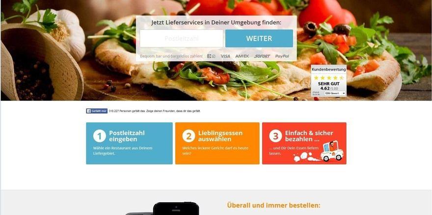 Der Trend schreitet voran: Immer mehr Deutsche bestellen ihr Essen über Portale