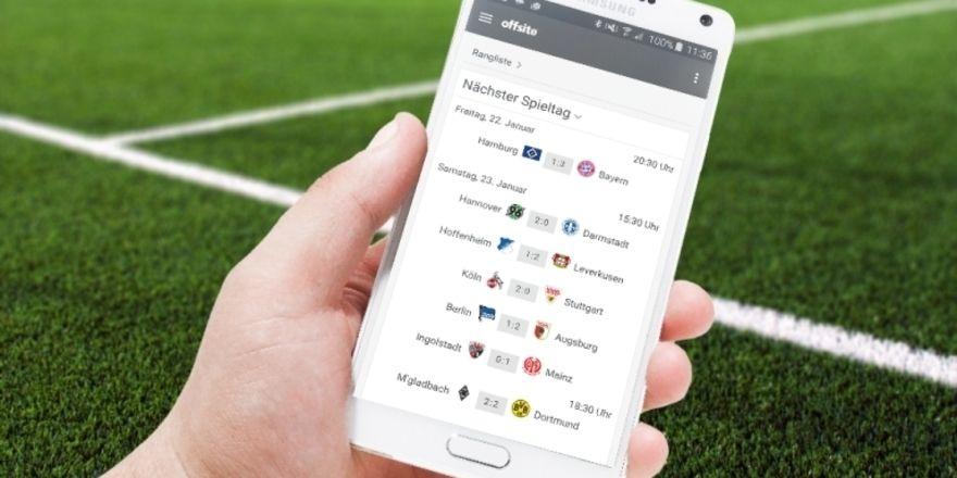 Start in die Rückrunde: Mit der Tobit-App Chayns können Gastronomen ihre Gäste Fußball-Tipps abgeben lassen