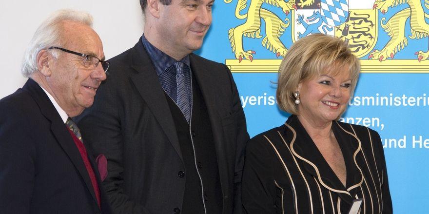 Lob von Minister Markus Söder: Margot und Günter Steinberg