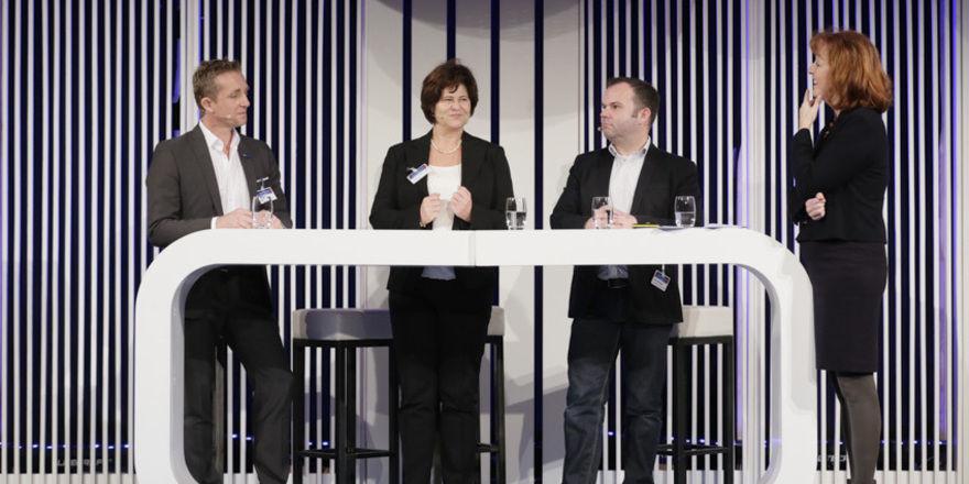 Diskutierten: Experten im Bereich Mice und Gabriele Schulze (rechts), Herausgeberin der Zeitschrift Tagungswirtschaft